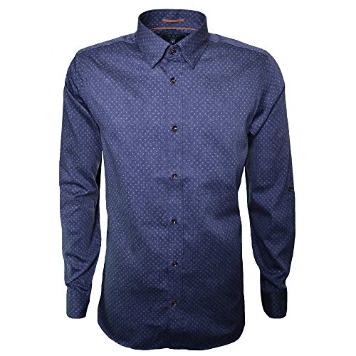 Photo of Ted Baker Men's Blue Jakee Long Sleeve Shirt 5