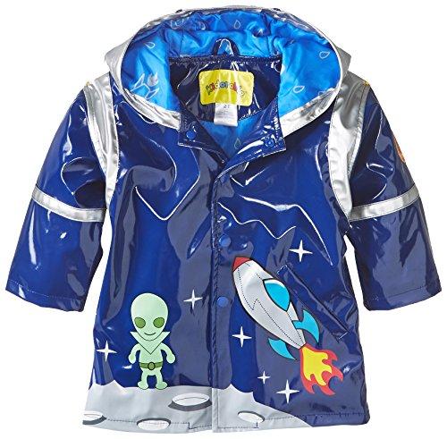 Kidorable Boys' Little Space Hero All Weather Waterproof Coat, Blue, 3T