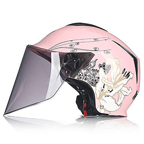Motorhelm - Open Helm Voor Motorcycle Scooter Bromfiets, Visor Full Face Motor Helm, Motor Racing Bike Touring Helmet