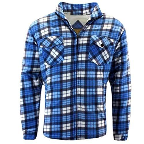 GAME Mens R5056 Richmond Sherpa Shirt - Blue/White