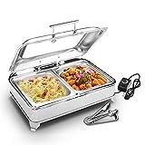 Aprilhp Chafing Dish, Servidor de Buffet, 9L Calentador de Alimentos de Acero Inoxidable, Calienta...