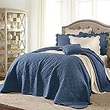 BrylaneHome Florence Oversized Bedspread - King, Smoky Blue