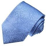 LORENZO CANA - Hochwertige Marken Krawatte aus 100% Seide - Schlips Hellblau Blau Barock Trauung Hochzeit festlich - 25012