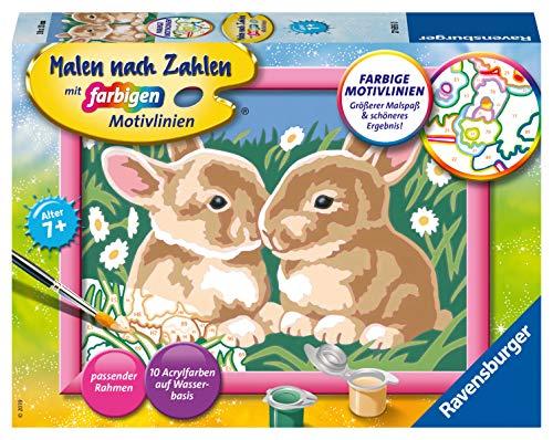 Ravensburger Malen nach Zahlen 27695 -Nieliche Häschen - Für Kinder ab 7 Jahren