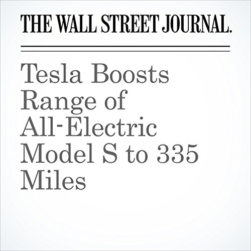 Tesla Boosts Range of All-Electric Model S to 335 Miles copertina
