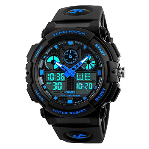 RUSTET Analogue - Digital Men's Watch (Black Dial Black Colored Strap)