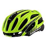 WANGSCANIS Casco de bicicleta para adulto, ligero de flujo de aire, para ciclismo de carretera y montaña (amarillo y negro, talla única)