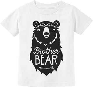 Big Brother Bear Cute Gift Sibling Boy Family Toddler Kids T-Shirt