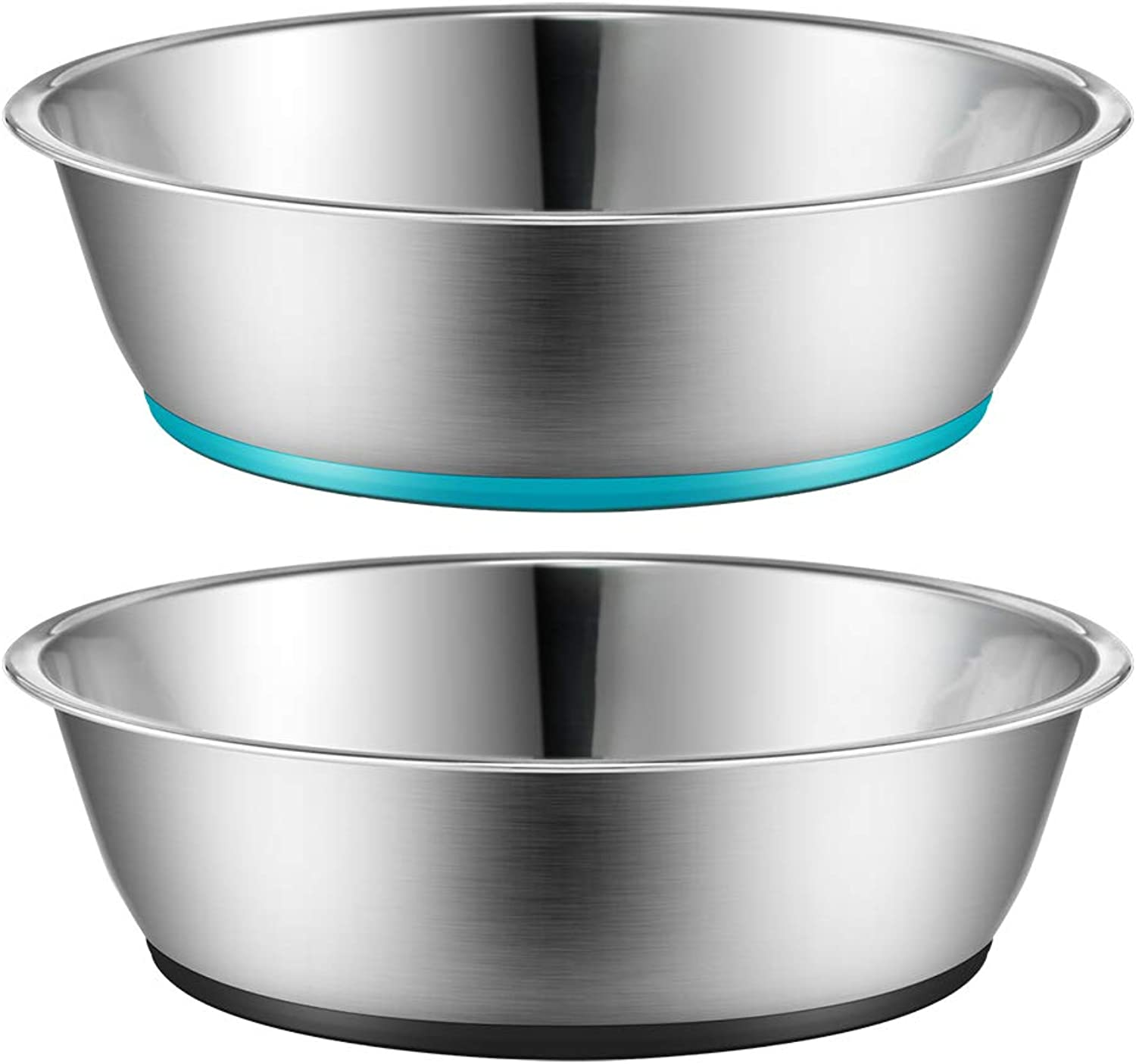 Peggy 11 Light NonSlip Stainless Steel Dog cat Bowl TwoPack 28 Ounce