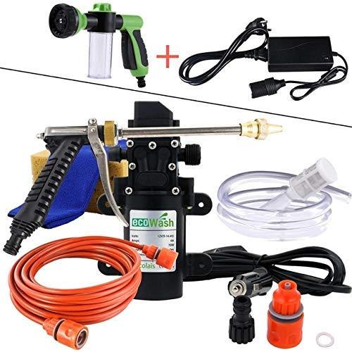W-SHTAO L-WSWS 12V arandela del Coche Arma de la Bomba de Alta presión del Limpiador del Cuidado de Coche portátil Lavadora Limpieza eléctrico automático de Dispositivos de Orange Duradero