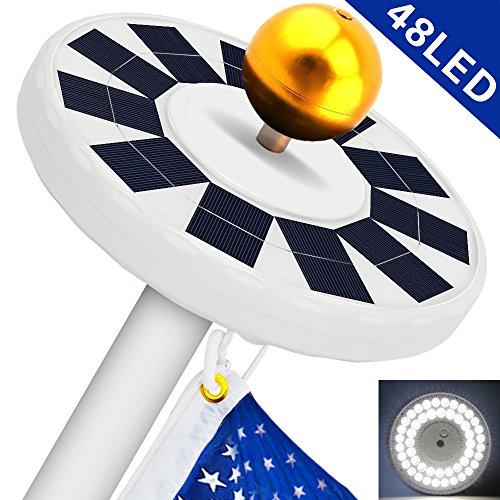 Hallomall solar flag pole light