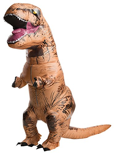 Rubie's Official Jurassic World Inflatable Dinosaur Costume, T-Rex with Sound, Standard