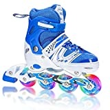 Best Inline Skates For Girls - XRZT Adjustable Inline Skates for Kids and Adults Review