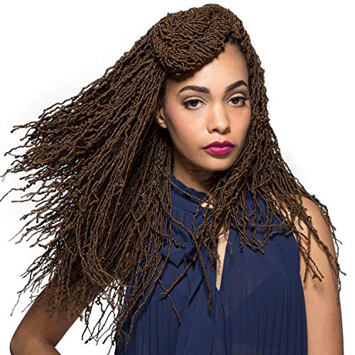 """Bobbi Boss Synthetic Hair Crochet Braids African Roots Braid Collection Micro Locs 18"""" (4 - Pack, 1B)"""