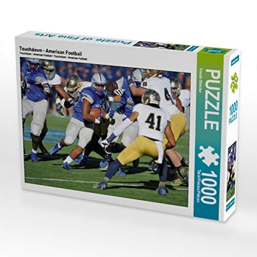 CALVENDO Puzzle Touchdown - American Football 1000 Teile Lege-Größe 64 x 48 cm Foto-Puzzle Bild von Renate Bleicher