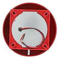 セキュリティベル6インチ電気警報ベル、内部ストライク警報ベル、学校駅用火災警報ベル(12V, Blue)
