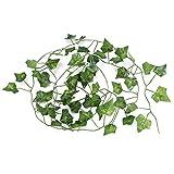 Wosune Reptile Jungle Rattan, Vid Artificial, pecera de ratán Realista, Acuario para Camaleones, Tienda de Peces Reptiles(Creeper Leaf)