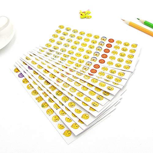 PMSMT 12 unids emoticonos niños Pegatina niñas Suministros Escolares Diarios decoración DIY niños álbum de Recortes Lindo Cara Sonriente Pegatinas