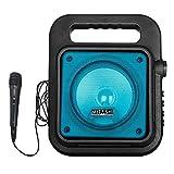 Mitashi PS 6510 BT Portable Karaoke Bluetooth Party Speaker with Mic/USB/AUX/Flashing Light/Recording Function(Blue)