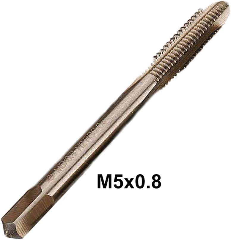 ZUZZEE M6 HSS Co M35 Machine Straight Flute Metric Tap Right Hand Male Thread Drill 1mm