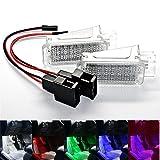 Juego de 2 módulos SMD de iluminación led para reposapiés, color blanco, azul, morado, verde, rojo