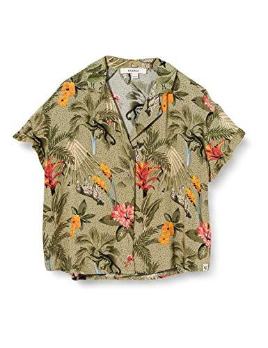 Garcia Kids Mädchen O02432 Bluse, Mehrfarbig (Green Flower 1681), 164 (Herstellergröße: 164/170)