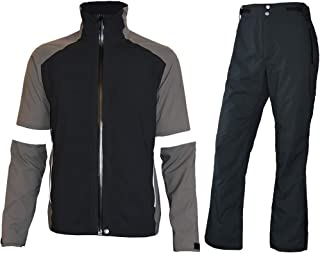 fit space Men's Waterproof Golf Jacket and Pants for All Sports Rain Suit