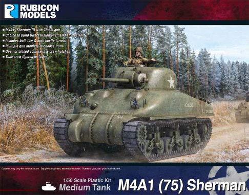 ルビコンモデル 1/56 アメリカ軍 M4A1(75) シャーマン プラモデル RB0086