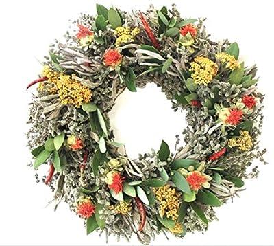 Wreath Natural Decoration Thistle Wreath Rustic Wreath Dried Wreath Door Size Wreath Preserved Wreath