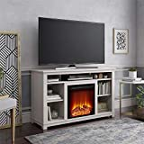 Ameriwood Home Edgewood Fireplace 55', Ivory Pine TV Stand,