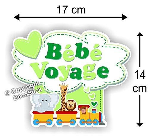 Sticker Bébé Voyage Vert - Autocollant bébé à Bord