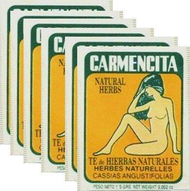Carmencita Herbs Tea. Pack of 60 individual tea bags.