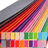 PMLAND 100 Sheets Gift Wrapping Paper - 20 Assorted Colors 20 X 26 Inch