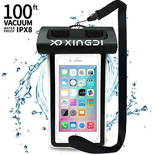 IPX8, universeel, waterdichte telefoonhoes, zwemmen, snorkelen, duiken, geschikt voor iPhone X/8/7/6/6s Plus, Samsung Galaxy S9/S8/S7, Huawei en mobiele telefoon met beeldschermen tot 6,0 inch