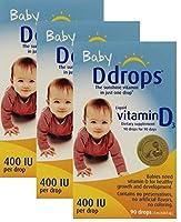 Baby Ddrops 400 IU 90 Drops by Ddrops [並行輸入品]
