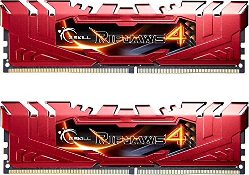 GSkill Ripjaws 4Serie F4–2666C15d-16grr DDR42666MHz Speicher-Kit–Rot