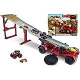 Hot Wheels - Monster Trucks Carreras con Cuesta Abajo, Pistas de Coches de Juguetes (Mattel GFR15)