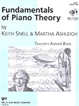 Fundamentals of Piano Theory Answer Key Level 2 - Snell/Ashleigh