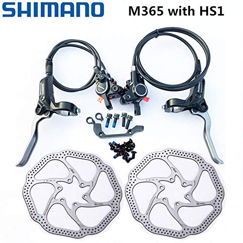 Bicycle disc Brake Rotor M365 Brake Hydraulic Disc Brake Brakes Bicycle Bike MTB Mountain Bike Brake BR-BL-M365 Brake W/n G3 HS1 RT30 Rotor 160mm (Color : M365 with HS1)