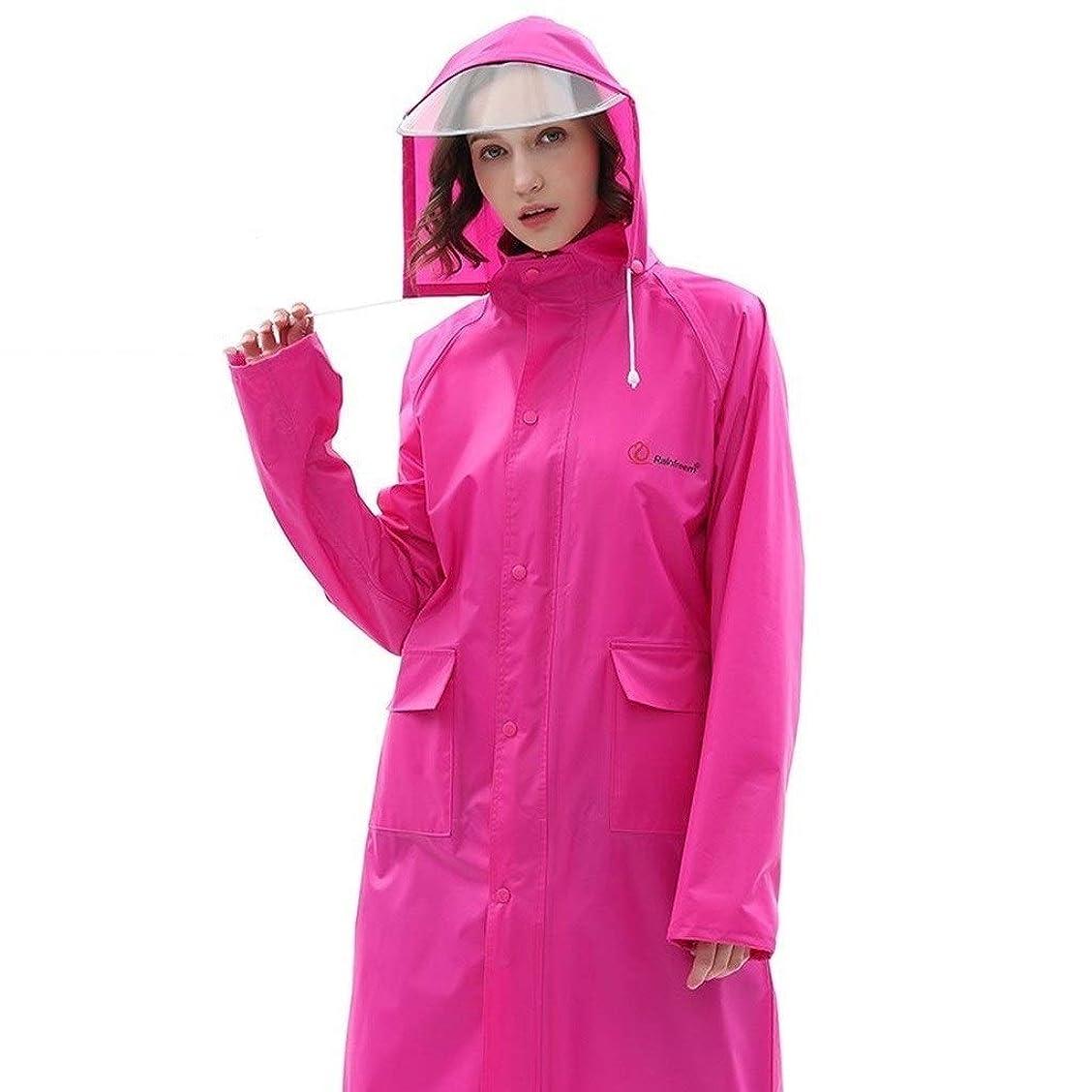 口述配置素朴なJCCOZ ポータブルポンチョ、ロングコート、緊急時のレインコート、取り外し可能な帽子、顔保護、漏洩を防止するための弾性袖口、屋外屋外のハイキングのためのレインウェア (Color : S, Size : 4xl)