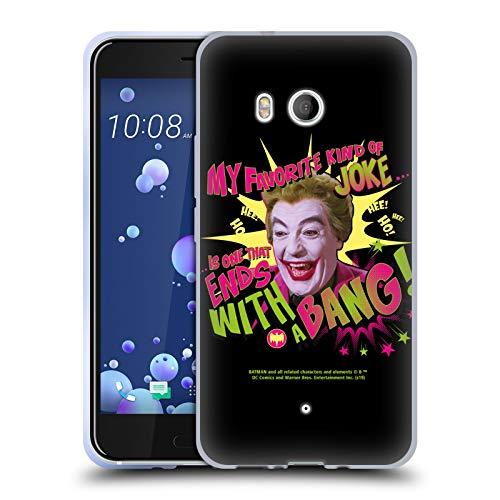 Head Case Designs sous Licence Officielle Batman TV Series Joker avec Un Bang Art Personnage Coque en Gel Doux Compatible avec HTC U11 / Dual