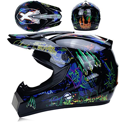 Off-road helm mannelijke veiligheidshelm tiener volwassen karthelm mountainbike motorhelm-Shiny Ghost Claw_XL