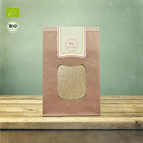 süssundclever.de® Bio Quinoa, gepufft | 1 kg (2 x 500 g) | Premium Qualität: hochwertiges Naturprodukt | plastikfrei in kompostierbarer, ökologisch-nachhaltiger Bio-Verpackung
