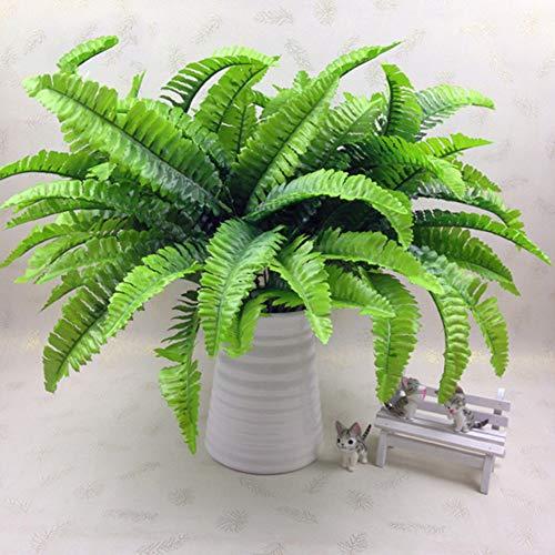 INFILM - 10 Hojas persas Artificiales Verdes pequeñas, imitación de Hierba Persa, diseño de Hojas de Helecho, arreglo de Flores, decoración para el hogar (36 cm)