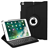 Fintie Keyboard Case for iPad 9.7 inch 2018 2017 / iPad Air 2 / iPad Air - 360 Degree Rotating Stand Protective Cover with Built-in Wireless Bluetooth Keyboard for iPad 9.7' (6th Gen / 5th Gen), Black