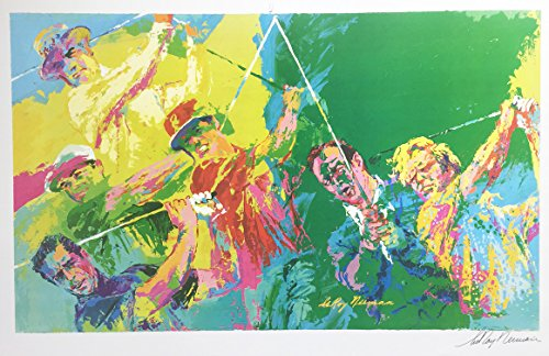 """LEROY NEIMAN """"Legends of Golf Hand Signed Lithograph"""