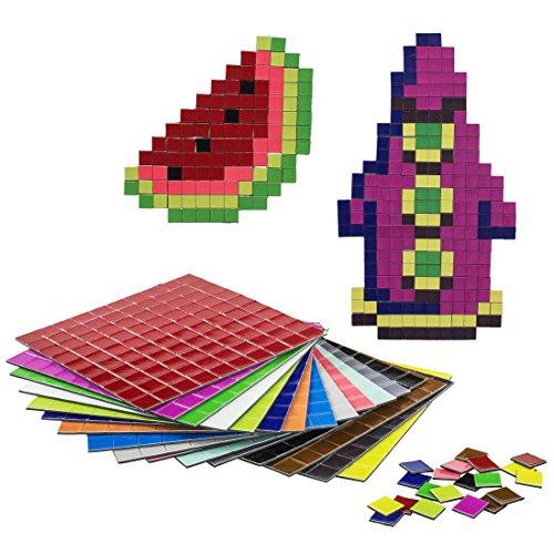 getDigital 11899 Pixel Puzzle Magnete   Set mit 1600 flachen Kühlschrankmagneten   16 Farben nach C64 Palette   1 x 1 cm je Pixel
