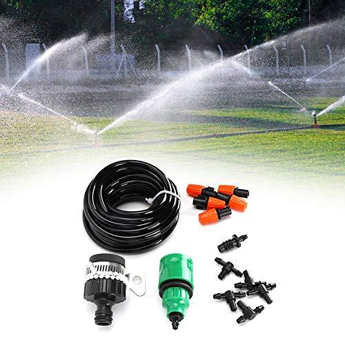 Redxiao Sistema de riego de jardín, Kit de riego de Micro Sistema de riego, Kit de Sistema de riego Material plástico Excelente Invernadero de Flores para Patio