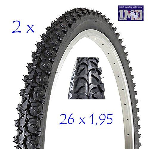 CHAOYANG 2 COPERTONI Bici MTB Bicicletta Nero 26 X 1.95 (54-559) GOMME Mountain Bike