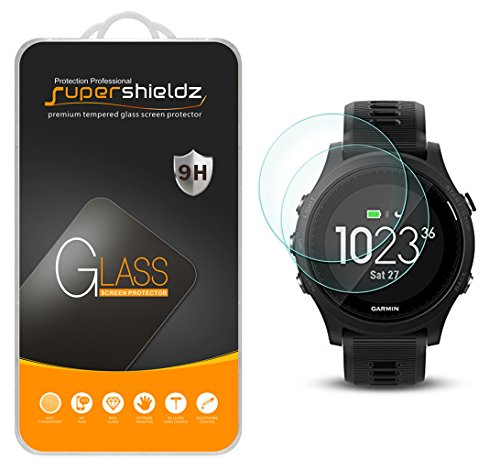 (2 Pack) Supershieldz Designed for Garmin Forerunner 935 Tempered Glass Screen Protector, Anti Scratch, Bubble Free